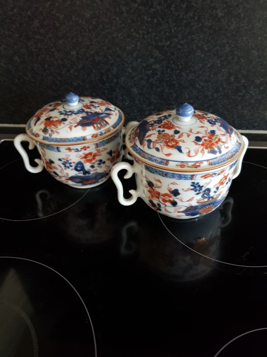 2 porcelain tureens with lid - Chinese - 18th century