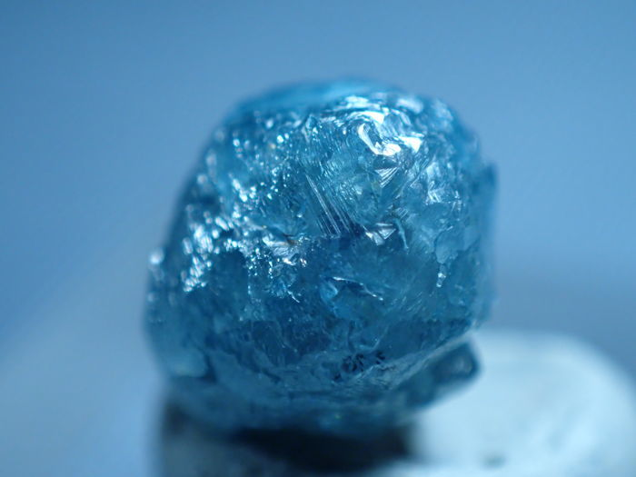 Diamond Blue rough diamond 2.30 cts - 70×60×50 mm - 0.4 g