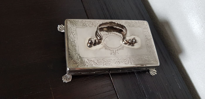 spoon box - Collection - Silver plated - Probably Hooikaas.Schoonhoven - The Netherlands - 1900-1949