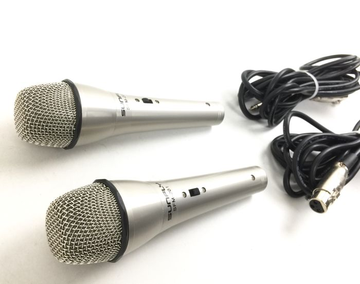 3 x Professional Dynamic Vocal Microphones 2 x SUNFLY SMF