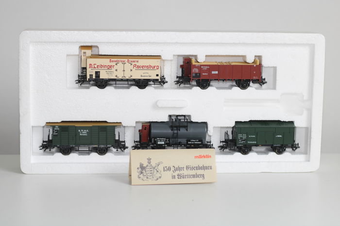 "Märklin H0 - 4510 - Freight carriage - 5-part freight car set ""Württemberg"" - K.W.St.E."