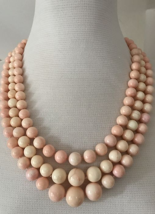 pink coral - Necklace