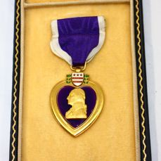 United States of America - WW2 Purple Heart Stitched Brooch
