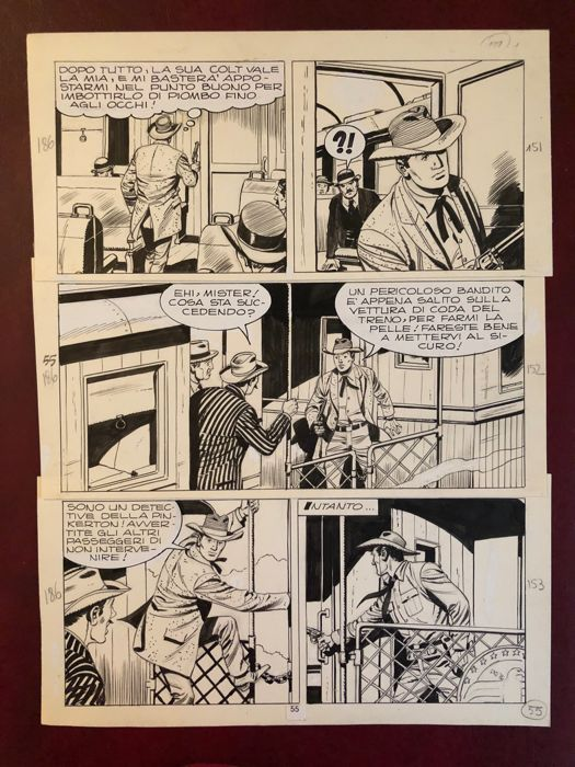 Tex #186 - G. Letteri - original page - Loose page - First edition - (1976)