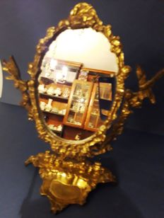 Bronze toilet mirror 1960s- 1 - bronze
