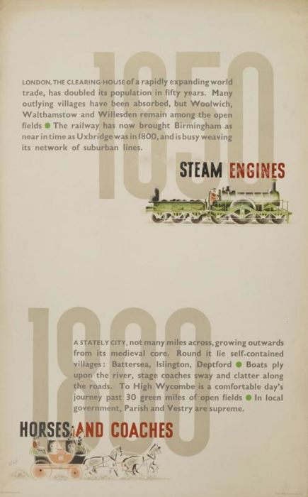 Zéró (ps. Hans Schleger)  -  Steam engines, horses and coaches - 1936
