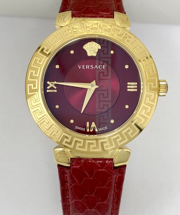 Versace Watch Daphnis Red Ip Gold Case Swiss Made V16080017