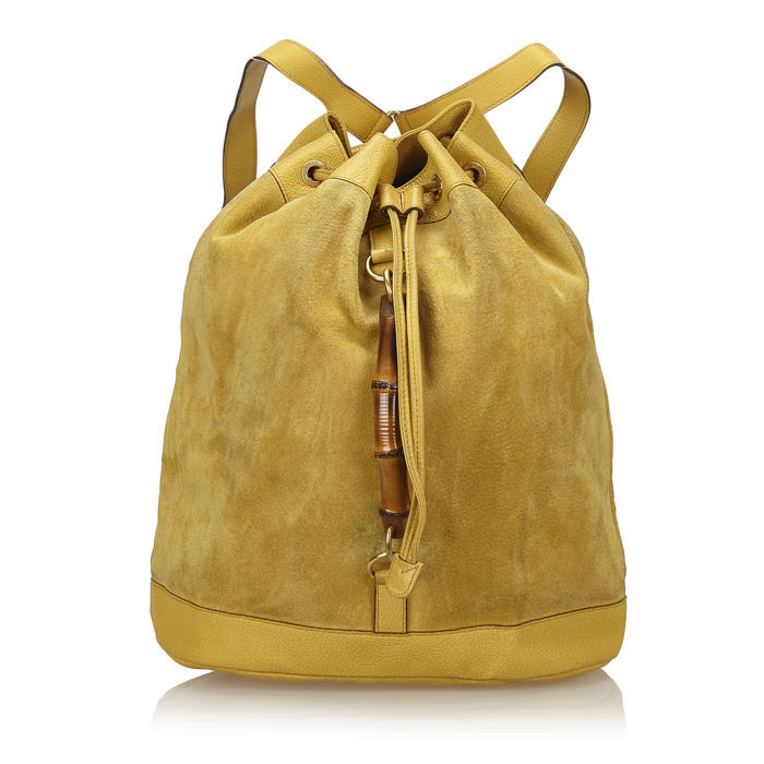 2b42a0d37b4 Gucci - Bamboo Suede Backpack - Catawiki