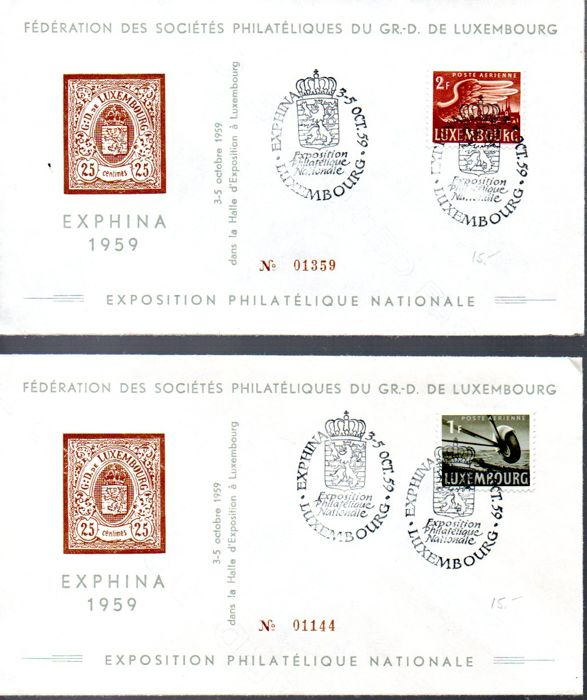 Luxembourg 1959/2001 - 128 first day envelopes - Sassone