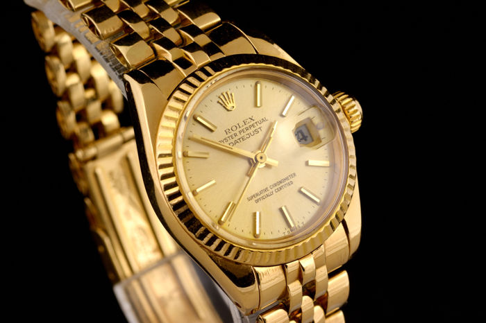 Rolex - Oyster Perpetual Date Just 18K Gold - 6917 - Women - 1980-1989