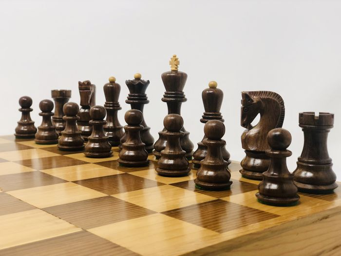 Artisan cabinet makers - Staunton Zagreb chess - Pieces and Board - Wood - Palisandro