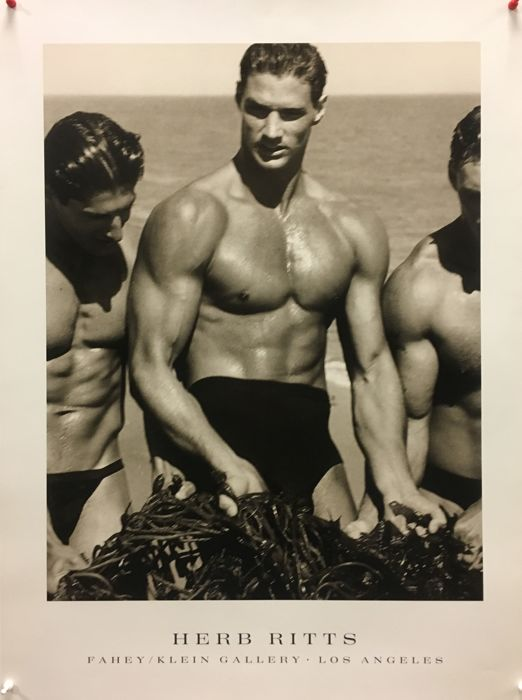 Herb Ritts - Men With Kelp, Paradise Cove - 2001