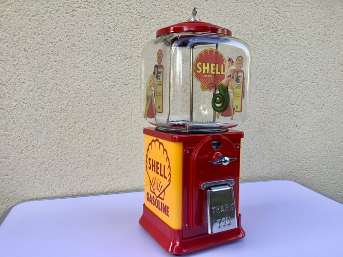 Victor Topper candy machine, USA, 1950, Shell Gasoline restoration