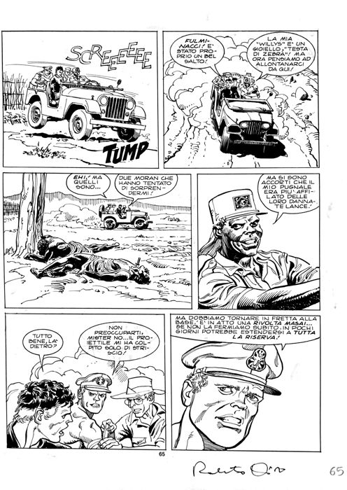 Mister No #178 - R. Diso - original page - Loose page - First edition - (1990)