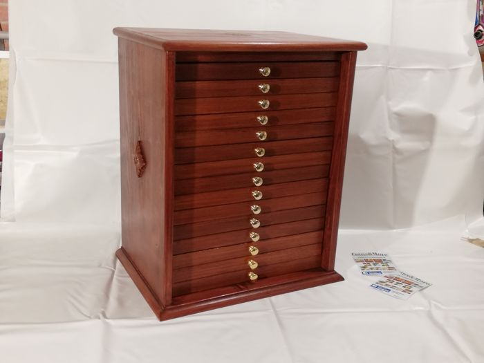 Chest of Drawers 15 Mahogany color drawers - Made in Italy realizzato a mano