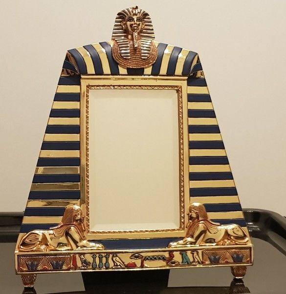 612e8bb0bf4 Franklin Mint - the treasures of Tutankhamun - 24 k gold-plated mirror    picture