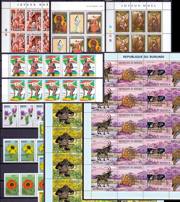 Burundi 1971/2002 - Composition sheets & sheet parts - OBP / COB tussen P 227 & 1114