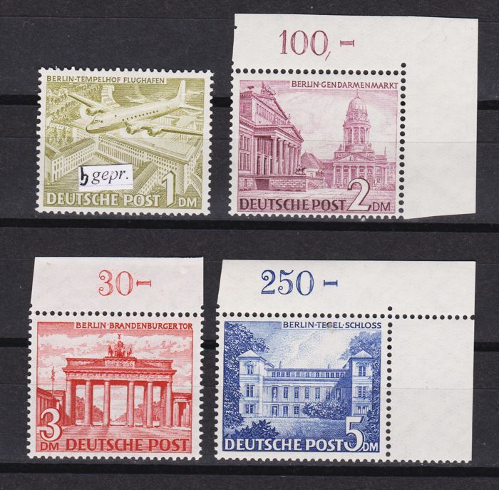 Berlin 1949/1949 - Buildings Mi. 57 - 60 - Michel Mi. 57 - 60