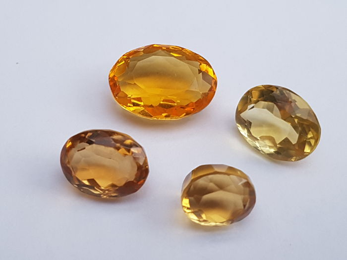 Citrine -  57 ct total -  4 pieces