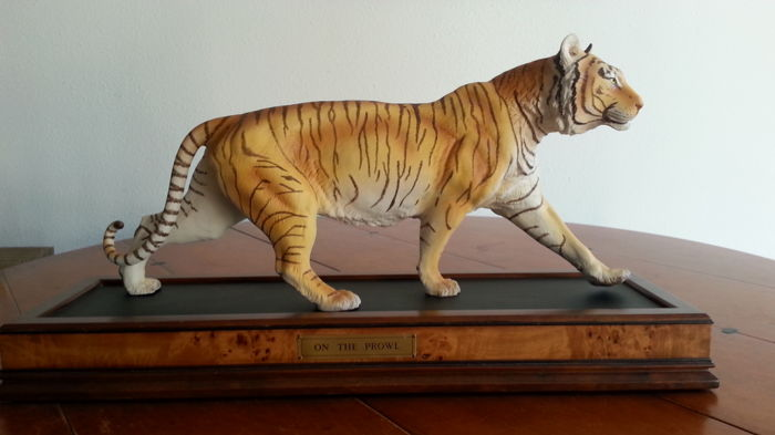 Franklin Mint - Tijger  'On the Prowl' coa (1) - Porselein