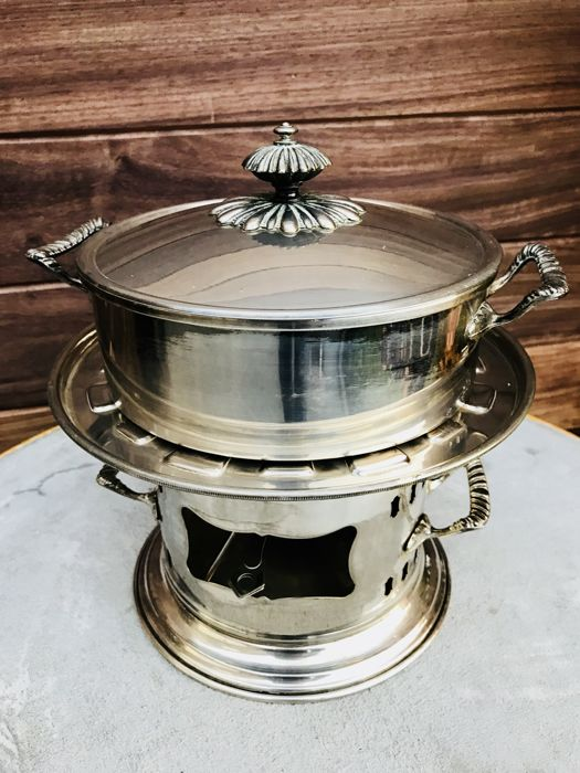 Silver plated fondue set - Silver plated - Italy - 1950-1999