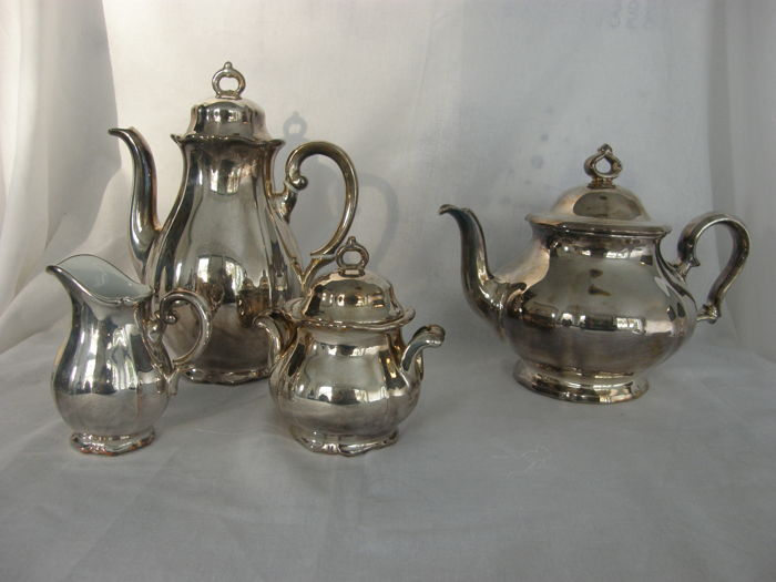 Silver plated porcelain tableware WMF - Silver plated - Germany - 20th century