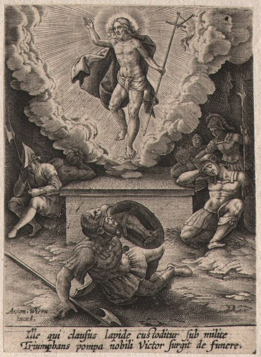 Anthony Wierix ( 1555-1604 ) - The resurrection - Only state