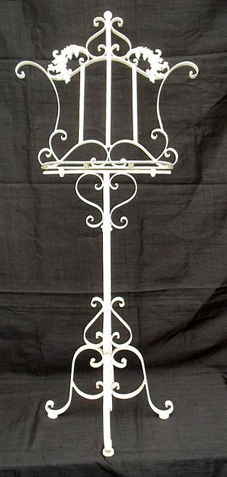Beautiful Brocante stand For Sheet Music Or Book - Wrought Iron