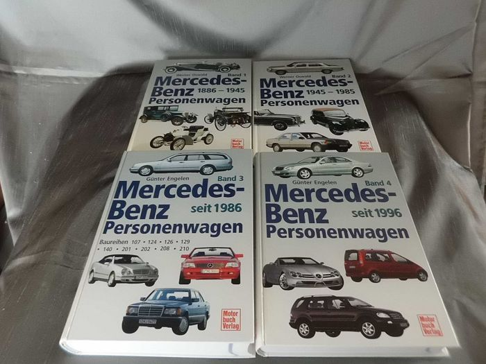 Mercedes-Benz - Models Production (1886-2003) - 4 Books  - 1886-2003