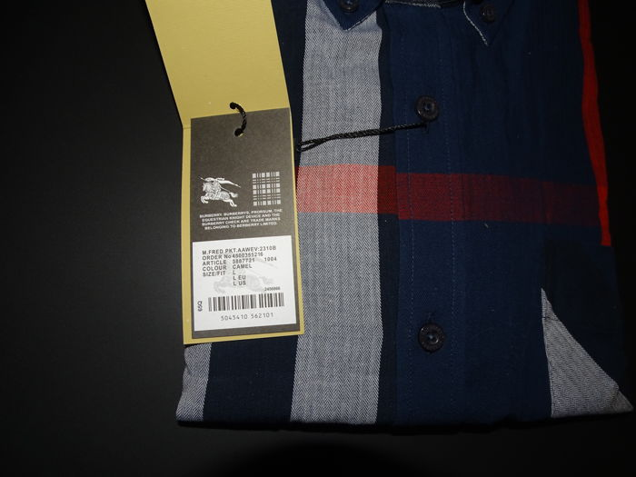Burberry - Button-down Stretch Cotton Blend Shirt - Catawiki 89a7c7144a9