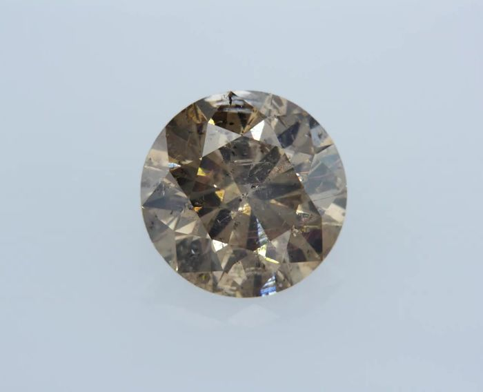 2.03 Carat Fancy Brown SI2 Round Diamond - LOW RESERVE!