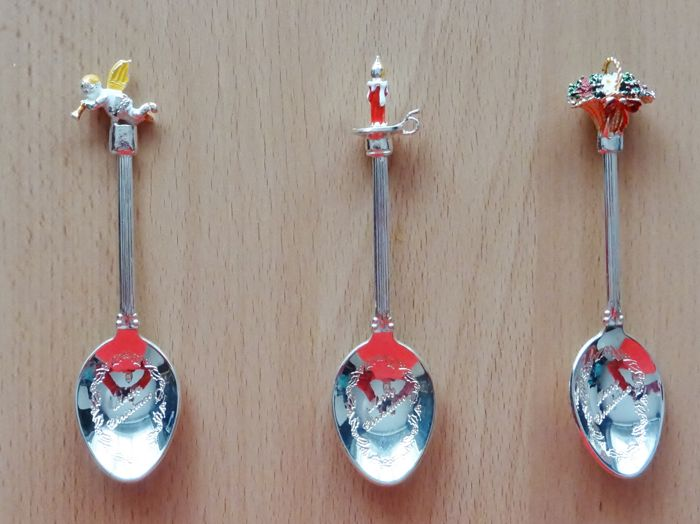 Spoon - 3 - Silver plated - mikado - United Kingdom - 1950-1999