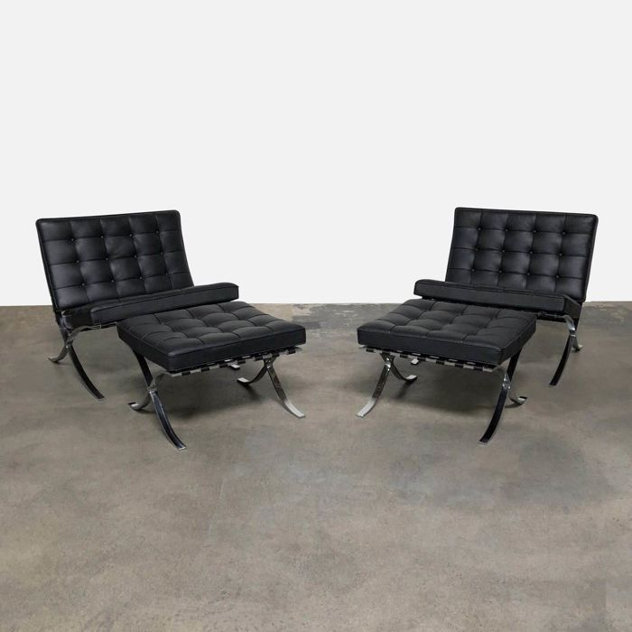 Ludwig Mies Van Der Rohe Knoll Lounge Chair Set Of 4 Catawiki