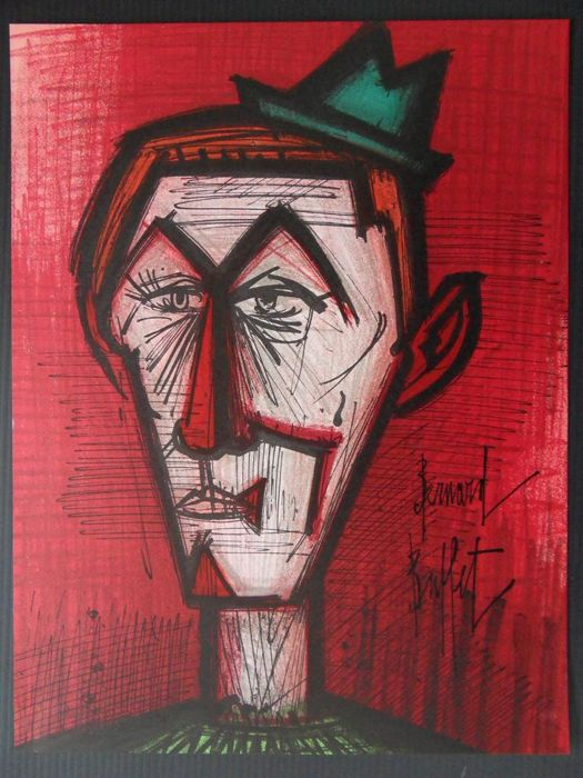 Bernard BUFFET - Le clown rouge