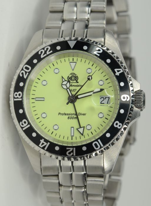 Tauchmeister - Professional Diver 600M Mens stainless steel watch - T0261 (No reserve price) - Heren - 2011-heden