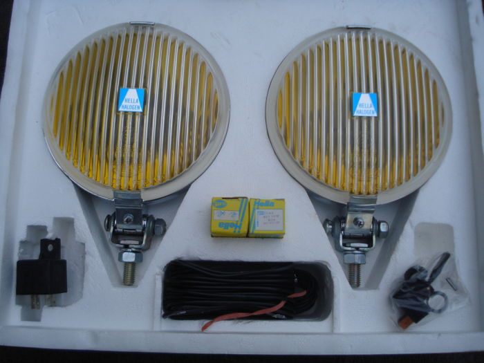 Lights - 1 set Helle fog lights type 140 diameter 145 mm - 1965-1980 (8 items)