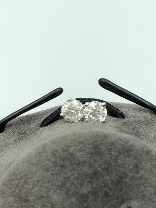 1,06ct diamond stud earrings in 18kt white gold - No reserve