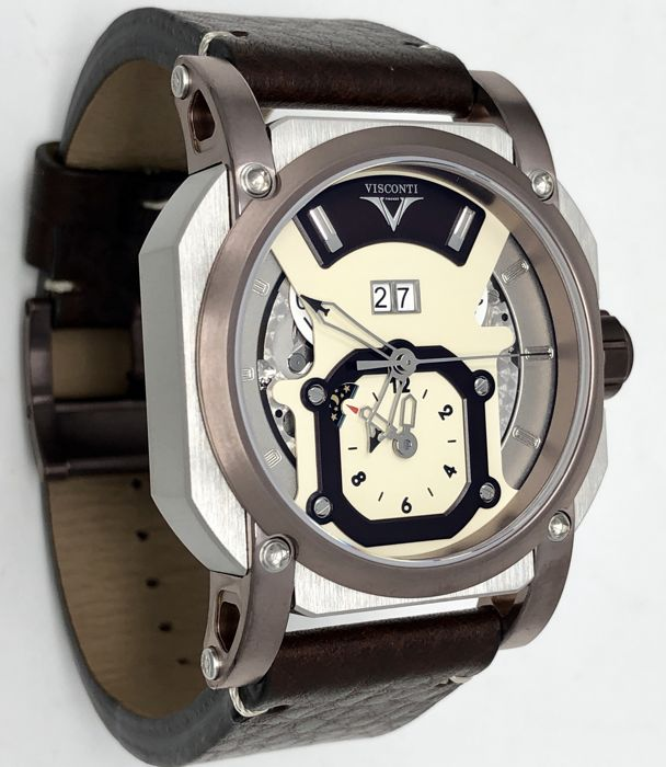 Visconti - Automatic GMT Grand Date Image Inox/Brown PVD - W102-04-105-0201 - Heren - NEW