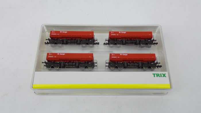 Trix N - 15209 - Freight carriage - Set of 4 side release Fas 126 - DB  Cargo - Catawiki