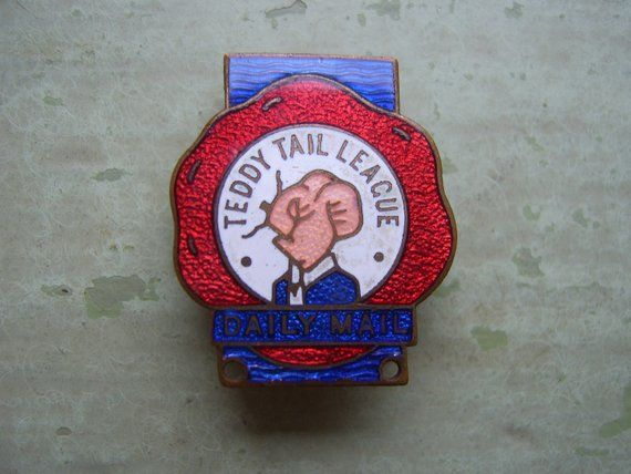 Plaque - Badge Teddy Tail - Enamel