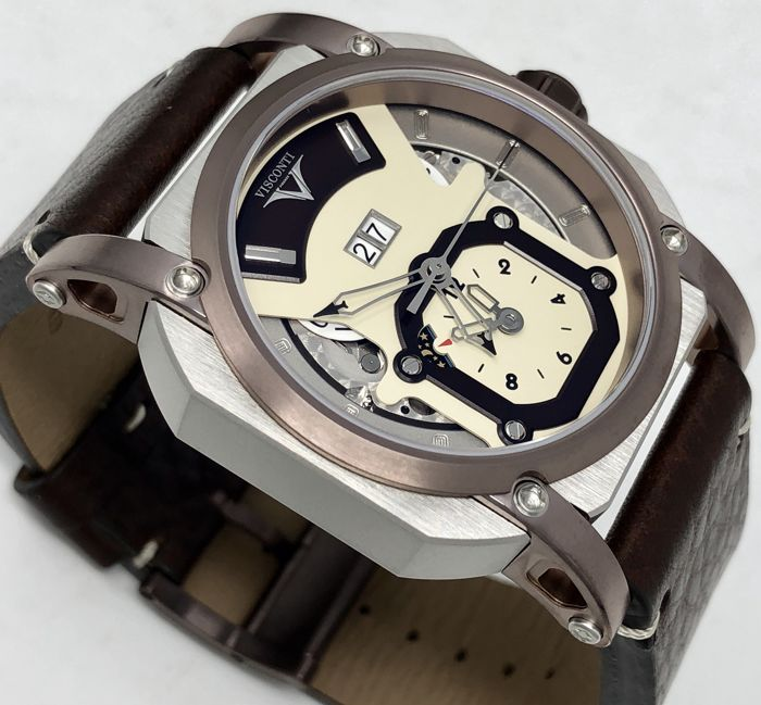 Visconti - Automatic GMT Grand Date Image Inox/Brown PVD 89/250 - W102-04-105-0201 - Hombre - NEW