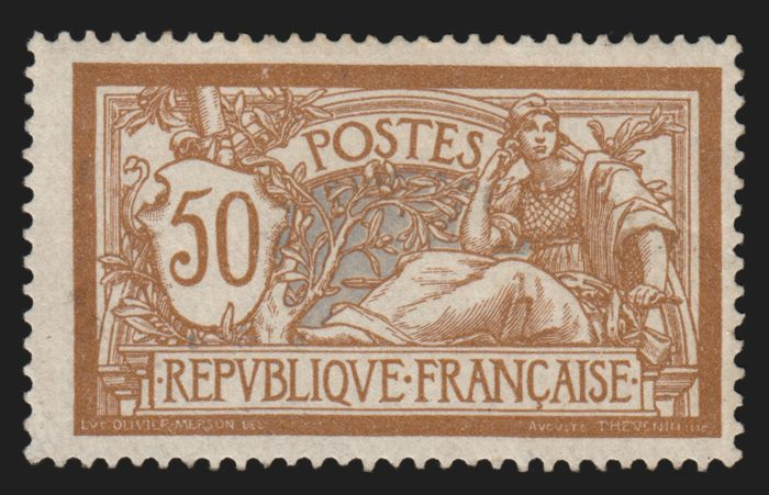 France 1900 - Merson, 50c brown and grey - Yvert 120
