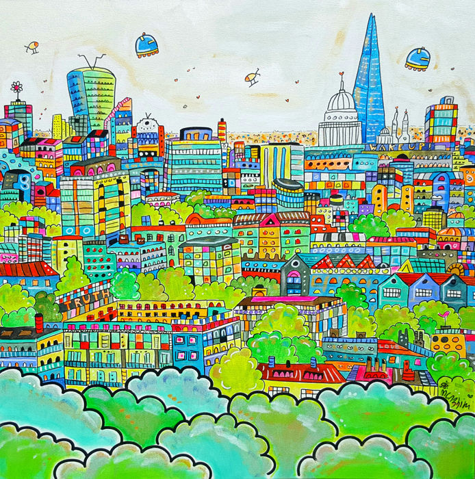 Maria Luisa Azzini - Vibrant Cartoon London