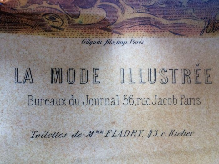 Vintage fashion art la mode illustree bureaux du journal