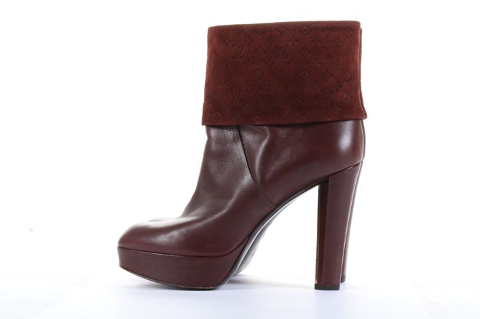 f6f346081575 Louis Vuitton - Louis Vuitton Empreinte Burgundy 12 cm heel Ankle boots