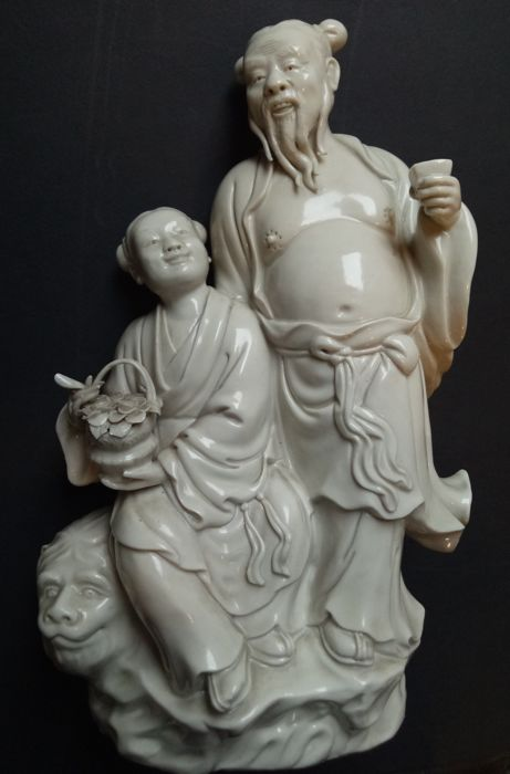 White porcelain, early - China - second half 20th century