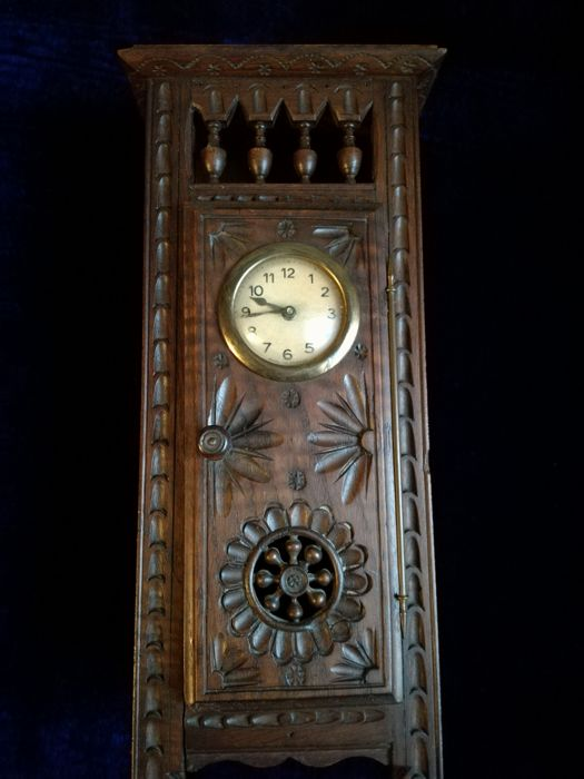Standing Table Clock - Wood - Oak