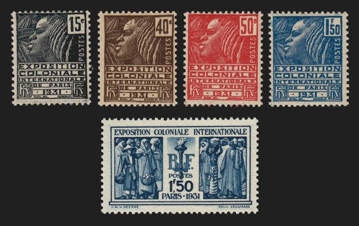 France 1931 - Colonial exhibition, complete series - Yvert 270/274