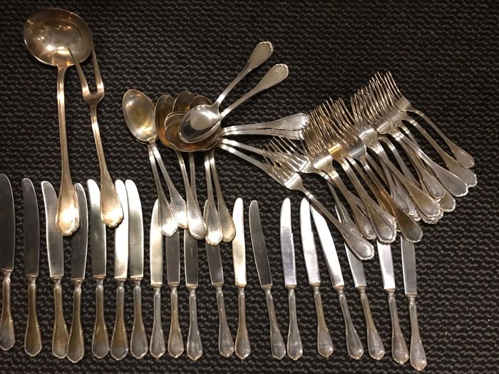 Cutlery set - complete - silver plated items - Italy - 1950-1999