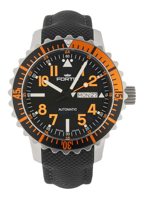 Fortis - Aquatis Marinemaster Orange - 670.19.49 LP - Heren - 2011-heden